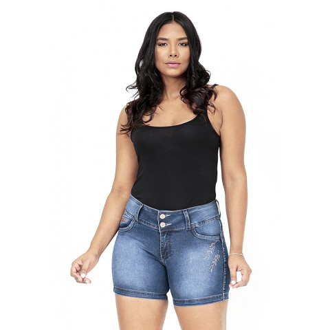 1757362-  Short Pedal Jeans Destroyed+Used