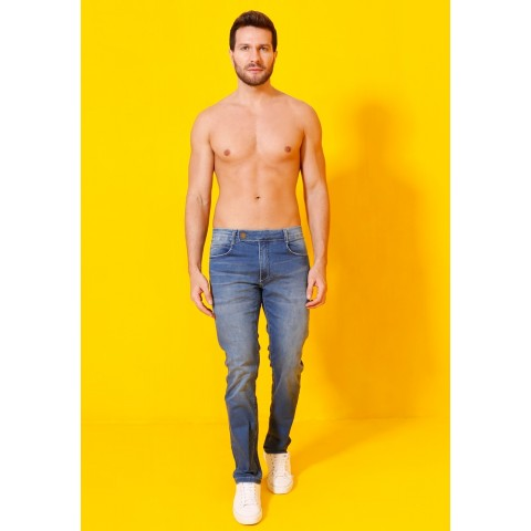 1758984- Calça Slim Magic Size Man Jeans Media